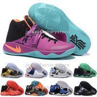 Wholesale Silk Satin Gift Boxes - (With Box) Cheap Irving 2 Mens Basketball Shoes Kyrie Irving 2 Tie Dye BHM All Star Basketball Sneakers high Quality Best Men Gift US 7-12