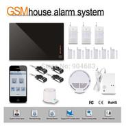 Wholesale Diy Door Kit - Wholesale- G1D-1 DIY Wireless GSM alarm System HOME Security BURGLAR ALARM KIT with PIR Sensor detector Siren Door window sensor,gift box