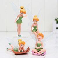 Wholesale Tinkerbell Action Figure Sets - 4Pcs Set Tinkerbell Fairy PVC Action Figures Tinker Bell Fairies figure Model Dolls Toy for kids gifts
