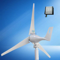Wholesale Generator Small Wind Turbines - small wind turbine generator 300w Max poewr 500w horizontal permanent magnet generator 3 5 blades 12v 24v optionable