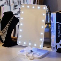 Hollywood Tabletops Maquillage Lighted Mirror Vanity Light avec gradateur Plastic Frame Stage Beauty Mirror 20 ampoules LED Livraison gratuite
