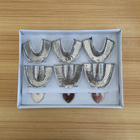 Wholesale Stainless steel tooth care dental impression tray take the mold care stainless steel dental tray box packed