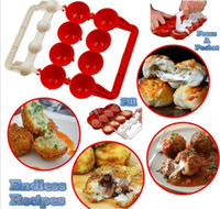 Wholesale Abs Moulding - Newbie Meatballs Mold Stuffed Fish Meat Balls Maker ABS Homemade Mould DIY Kitchen Cooking Tools G115
