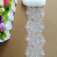 Wholesale White Eyelet Trim - Free shipping 2 cm Nylon Trim Eyelash Lace JML002(6 yds  lot)White Eyelet Hollow out net Lace for DIY Clothing Crafts Bridal Dresses Decor