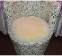 bedroom floor covering 2018 - 100% Sheep Wool Round Carpets Softly Comfortable Area Rugs Floor Hallway Doormats Protect Living Room Pad Matting Covers