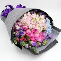 Wholesale Specialty Packaging - Linen Flower Wrapping Packaging Flowers Paper Gift Wrapping Multi Color Florist Wrapping Paper Flower Bouquet 49CM*5Yard