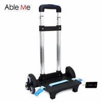 Wholesale Trolley Bags For Boys - Aluminium Alloy Travel Accessories 3 Wheels&2 Wheels Rolling Cart Removable Trolley Kids Schoolbag Luggage Carts for Girls and Boys