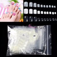 Wholesale Fake Nails Toes - Wholesale-500 Pcs Natural Acrylic False Fake Artificial Toe Nails Tips For Nail Art Decor