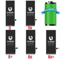 Wholesale Iphone 4s Original Phone - YONTEX brand Original quality batteries For Apple iphone 4 4s 5 5s 5c 6 6s 6p 6sp mobile phone battery 100pcs