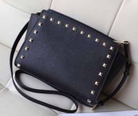 Wholesale Designer Bas - Single shoulder bag brand The European and American popular messenger bag designer fashion rivet slanting classic best-selling female bag ba