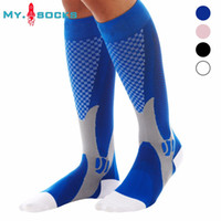 Wholesale Stretching Balls - Wholesale Men Women Leg Support Compression Socks Unisex Stretch Breathable Ball Games Socks free shipping