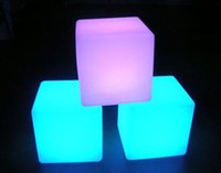 Wholesale Led Chairs Wholesale - New fashion led furniture, remote control LED luminous colorful lights square stool, chair, use in garden, bar, nightclub, swimming pool