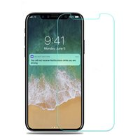 Wholesale tempered glass factory - For Iphone X High Quality Tempered Glass Screen Protector for Iphone 8 & Plus Mixed Types 9H Clear 2.5D Anti fingerprint Factory Ship-YH0292