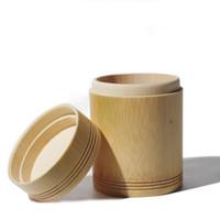 ingrosso può zucchero-Scatole di immagazzinaggio di bambù Contenitori di legno Organizzatore fatto a mano Barattoli di tè Lattine di caffè Lo zucchero riceve per prodotti sfusi ZA4708