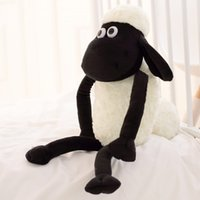Wholesale Lamb Baby Gifts - Wholesale- 1pcs Cute 32cm 13'' Goat Lamb Pendant Black White Sheep Soft Plush Toys Doll Xmas Kid Baby Gift Fast Delivery Good Quality