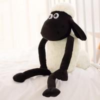 Wholesale Soft Quality Doll - Wholesale- 1pcs Cute 32cm 13'' Goat Lamb Pendant Black White Sheep Soft Plush Toys Doll Xmas Kid Baby Gift Fast Delivery Good Quality