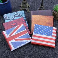 Wholesale Pattern For Coin Purse - New Arrivals Trendy National Flag Pattern Short PU Leather Wallets Credit Card Holder Coin Purse Notecase for Men