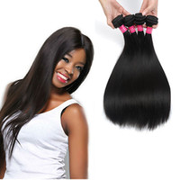 Wholesale modern hair show - wholesale 8A Brazilian Virgin Hair 4Bundles Deal Brazilian Straight Hair Weave Unprocessed Brazilian Human Hair Bundles Modern Show Products