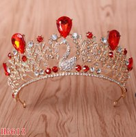 Wholesale royal hairs - Wholesale Luxury Royal Over Sized Rhinestons Wedding Crowns Sweet 15 Quinceanera Tiaras Girls Pageant Hair Accessories Prom HeadpiecesWholes
