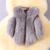 Wholesale Girls Fox Fur Coats - Girls Faux Fox Fur Vest 2017 Brand Winter Warm Kids Fur Vests for Girls Coat Fashion Baby Girl Jacket Children Outerwear 3 Colors