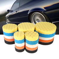 Wholesale Car Wax Polish Kit - Wholesale- 5pcs Set 3 4 5 6 7 Inch Buffing Sponge Polishing Pad Hand Tool Kit For Car Polisher Wax