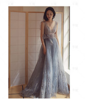 Wholesale Lace Bra Pictures - Sexy Real Pictures Sheer Evening Dresses no Bra Long A-Line Prom Party Gowns Sleeveless Custom Made On Sale Vestido De Soiree