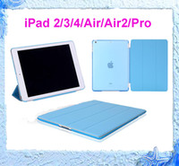 Wholesale China Free Shipping Hot Air - Hot Tablets Case for iPad 2 3 4 air 2 Pro 9.7 Magnetic Smart Cover Back Cases With Sleep Wake free shipping