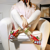 Wholesale Butterfly Rearing - Pink Lace-Up Butterfly FLowers Flat Sandals Women Slipper Slide SLip For Girls Casual Shoes Summer Spring Sweet Sandals
