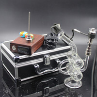 Wholesale Honey D Nail - D nail with glass bong glass honey comb perk water pipe 14.4mm jiont clear color