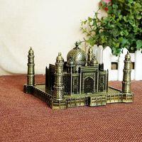 Wholesale famous craft - 13cm Size Metal Craft India Famous Landmark Taj Mahal Model