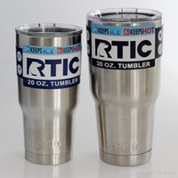 Wholesale Big Cool Cars - New RTIC Cups Tumbler Cups Car Cups Stainless Steel Sharp as YT Mugs 30oz 20oz Cooler Bilayer Insulation Water Bottles Mugs free shipping