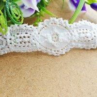 Wholesale Wholesale Lace Trimming - Free shipping 3.5cm Width Stretch Lace Trim(EL014) 15 yds lot White Floral Trims Vintage style lace for underwear Decor Dresses DIY