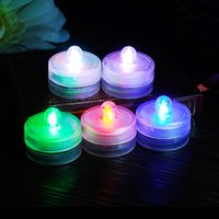 Wholesale Color Changing Candle Floating - 10pcs lot Multicolor Waterproof Submersible LED Tea Light Electronic Candle Light for Wedding Party Christmas Valentine Decoration