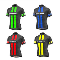 Wholesale Giant Shirts - 2017 New Giant Cycling Jersey Summer Short Sleeve Shirts Maillot MTB Tops bike clothing bicycle clothes Ropa Ciclismo hombre D0606
