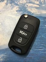 Wholesale Flip Key Kia - Car Key Shell Replacement 3 Buttons Flip Remote Key Case Blank Cover With Logo Fit For Kia RIO+Free Shipping