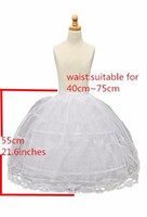 Wholesale Petticoats For Children - Flower Girl Kids Petticoat Children Crinoline Undersakirt Slip for Little Girl 55cm Long 2-Hoops High Quality Fast Shipping