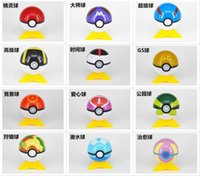 7cm Cute Pokémon Poke Ball 13 Color Pokeball Mini Modello Classic Anime Pikachu Super Master Pokémon Action Figures Giocattoli