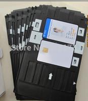 impresora de tarjetas de inyección de tinta al por mayor-Tarjeta de PVC en blanco imprimible al por mayor de 1151pcs / lot para la impresora de Espon, impresora de Canon + 1pcs bandeja de la tarjeta