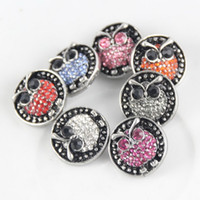 Wholesale Stainless Steel Necklace Charm Set - 18-20MM Owl NOOSA chunks snap button jewelry Acrylic Jewelry Ginger Snap Button fit Bracelet Necklace Ring Earrings