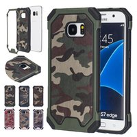 Wholesale Defender Case S4 - Hybrid Dual Layer Army Armor Camouflage ShockProof Defender Cover Case For Samsung Galaxy S4 S5 S6 S7 Edge S8 S8 Plus Phone Case
