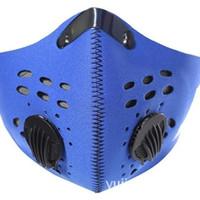 luftfilter für fahrrad großhandel-Atmung Radfahren Masken Aktivkohle NEUE Outdoor Sports Bike Gesichtsmaske Filter Luftschadstoff Mund Muffel Staubdicht Männer Und Frauen 10jl F