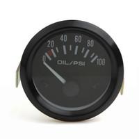 medidor de presión de aceite del coche al por mayor-Nuevo 52mm Universal Auto Indicador de presión de aceite de coche 2 pulgadas 0-100 Psi Indicador de presión de aceite de automóvil Metro de indicador de presión de aceite LED CEC_544