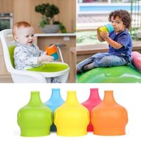 Wholesale Making Drinks - Silicone Sippy Lids for baby drinking Silicone Sippy Lids Make Most Cups Sippy Leak Proof elephant design Anti-overflow cup lid KKA1429