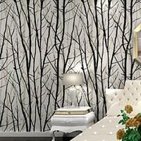 precio de rama de papel para la parednegro ramo de abedul blanco ramas papel