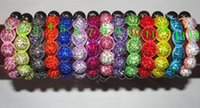 Shamballa 10mm * 5 Perles de cristal Bracelets Macrame Disco Ball Bracelets Bijoux Bracelet Cheap China Colorful kids charm Bracelets