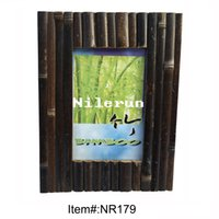 Wholesale Bamboo Picture Framing - black bamboo picture frame for 4x6 inch