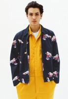 Wholesale Denim Jacket Vest Sleeves - Hot mens bboy Mendini Colorful Gun Print Work Jacket zipper jean jacket hiphop sport streetwear denim outerwear coat
