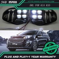 Car Styling LED Daytime Running Light per KIA KX5 DRL 2016 2017 Elantra LED DRL Fendinebbia Fanale anteriore Lampada frontale Ricambi auto