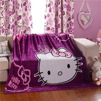Wholesale Twin Bedspreads Wholesale - Cartoon Kitty Princess Single Size Blankets Fashion Fleece Blanket Throw Blankets Boys & Girls Rugs Bedding Sheet Bedspreads 150x200cm
