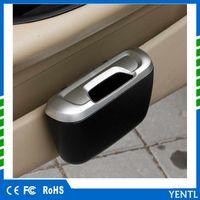 lixo automático venda por atacado-Frete grátis YENTL Mais Novo Moda Mini Car Auto Lixo Lixo Lixo Lata De lixo caso Caixa De Armazenamento De Carro Caixa Do Carro Acessórios Do Carro de plástico